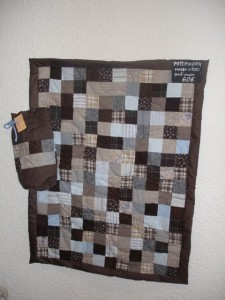 patchwork marron et bleu 002 (photo)